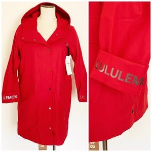 Lululemon Into The Drizzle Jacket in Dark Red Sz 8